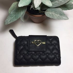 Betsey Johnson Black Quilted Wallet